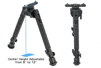 "Leapers UTG Recon 360 TL Bipod 8-12"" 203-304mm Center Hight M-LOK TL-BPM03"